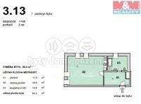 Prodej, byt 1+kk, 65 m2, OV, Praha 6 - Ruzyně