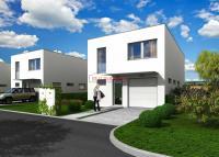 Moderní řadový, cihlový dům 5+kk o ploše 166,5m2+terasa 17,5m2 na pozemku 568