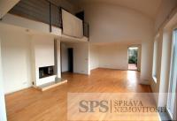 Nadstandartní mezonetový byt 5+kk, 241 m2, s terasou 75m2, sklepem a garáží, Praha 5 Malvazinky.