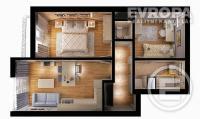 Prodej bytu 3+kk, v osobním vlastnictví, o velikosti 57,14 m2+terasa 2,77 m2, ve výstavbě