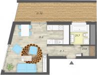 Prodej bytu 1+kk, o celkové výměře 38,90m2, kryté parkovací stání, Praha 6, ul. Ve Střešovičkách